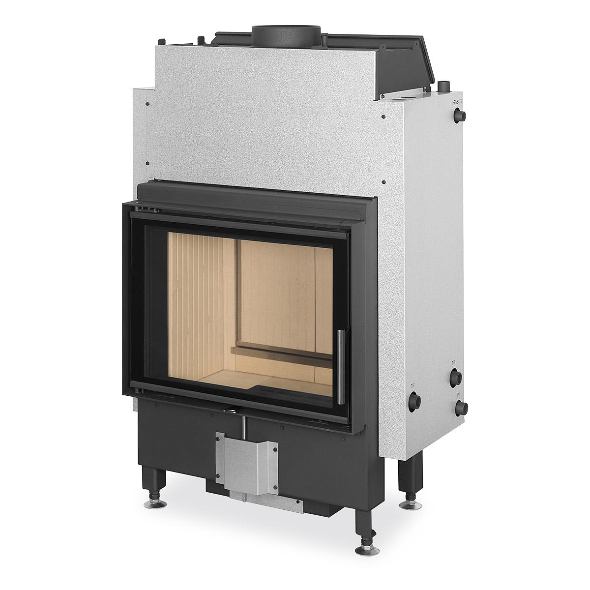 DYNAMIC WB 2G 66.50.01 Krbová vložka s dvojitým presklením, teplovodným výmenníkom a zadným prikladaním